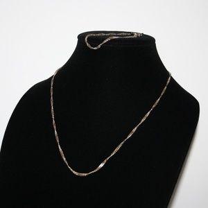 """Vintage gold 18k GP necklace and bracelet set 20"""""""